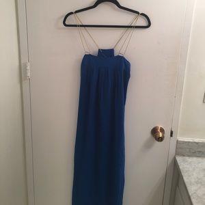 Anthropologie Blue Maxi Dress NWT